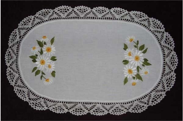 ukras za stol, pećki vez /Embroidered Easter decoration