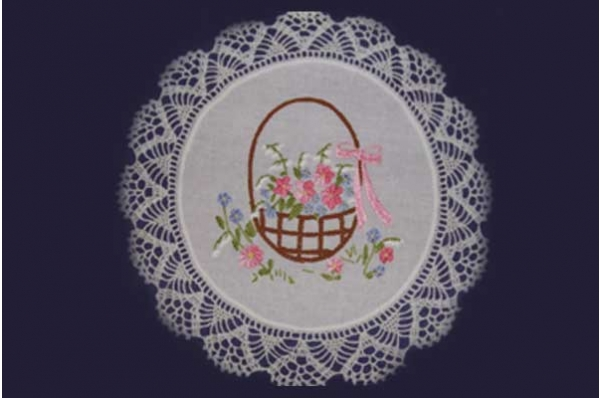 uskrsni ukrasni tabletić, pećki vez /Embroidered Christmas decoration