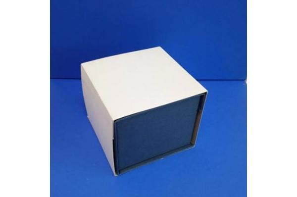 plava kutija za vučedolsku golubicu/blue cardboard box for Vucedol Dove