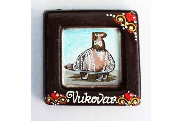 vučedolska golubica, uokvirena slika / The Vucedol  Dove, picture framed