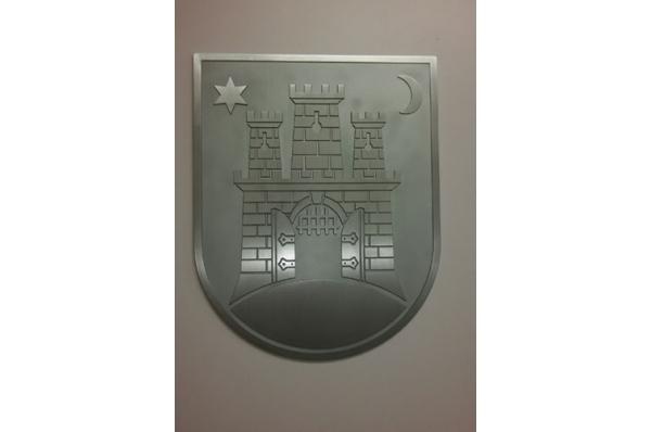grb grada Zagreba, aluminijski /Zagreb Coat of Arms, aluminium