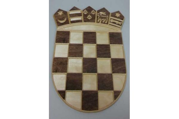 drveni hrvatski grb, zidni /Croatian Coat of Arms, wooden, for a wall