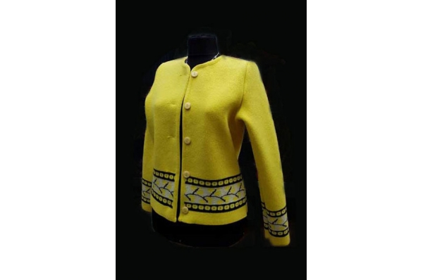 žuta vunena jakna / Yellow wool jacket