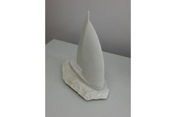 jedrilica, dva jedra/ Sailboat of Stone , two sail