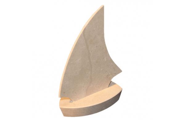kamena jedrilica mala i mini /Stone Sailboat, small /mini