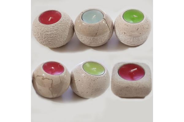 okrugli kameni svijećnjak / Round Stone Candlestick