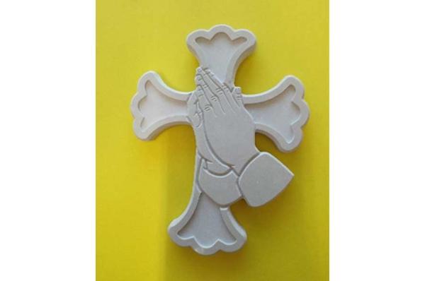 zidni križ, sklopljene ruke / Wall Cross, arms folded