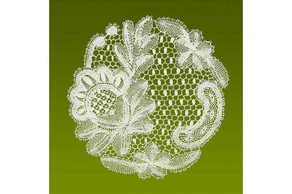 lepoglavska čipka, ruža/ Lepoglava Lace, wooden box