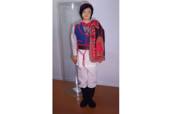 lutka šestinčanin, 28 cm / šestinčanin-doll 28cm