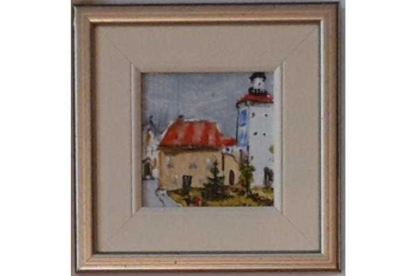 uokvireno ulje na platnu 10x10cm /Miniature oil on canvas 10x10cm