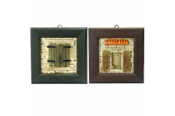 uokvireni reljefni portali /Framed plaster relief plate, old Dalmatian house walls