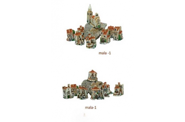 sela, male minijature /Dalmatian stone villages, miniatures (small)
