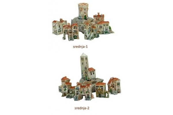 sela, srednje minijature/Dalmatian stone villages, miniatures (middle)