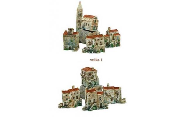 sela, velike minijature/ Dalmatian stone villages, miniatures (big)