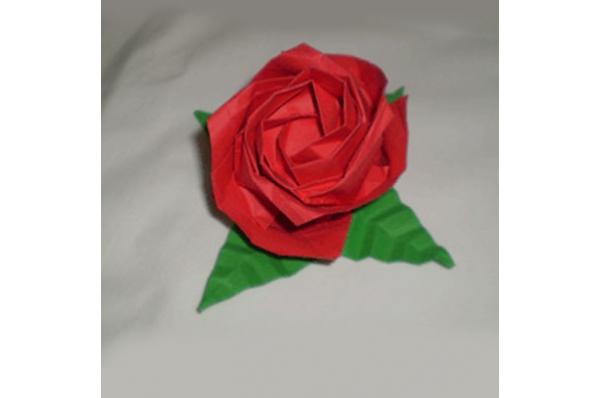 crvena ruža od papira /Paper rose, origami
