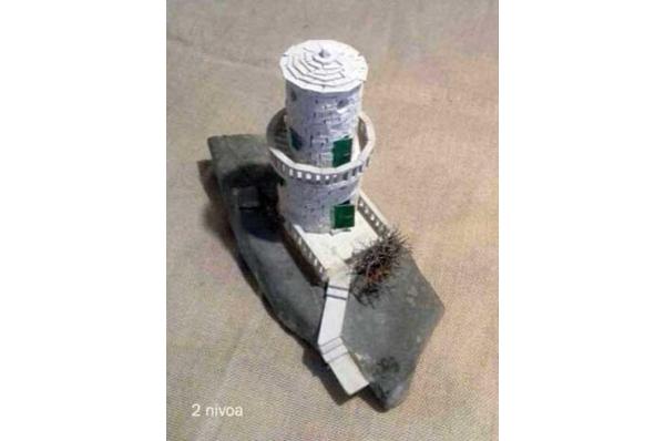 minijatura svjetionik,2 nivoa/Lighthouse  miniature (2 levels) 20cm