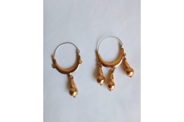 paške rinčice,pozlaćene / Pag  Earrings, replica