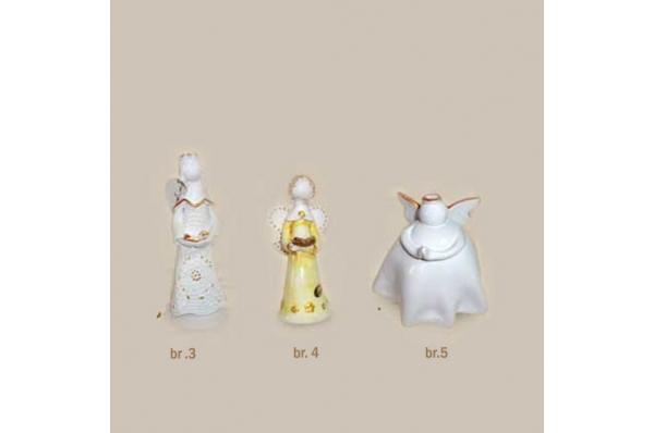 keramički anđeli 10cm i 15 cm /Figurines, colored angels