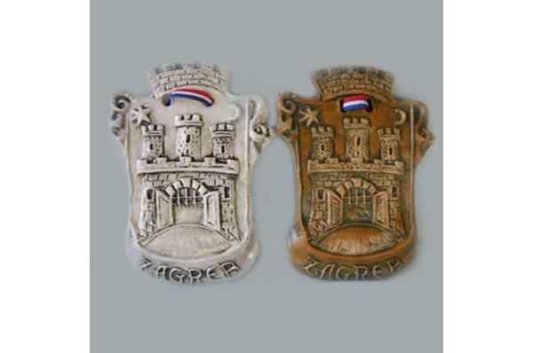 keramički reljef, grb grada zagreba /Decorative relief plate, more motives
