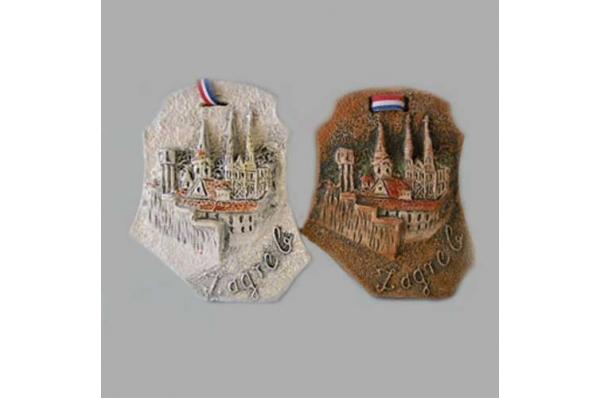 keramički reljef, zagreb /Decorative relief plate, more motives