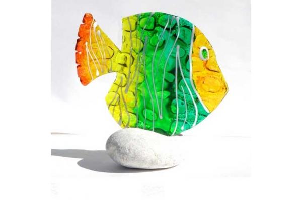 murano riba na kamenu /Murano Fish on the Rock