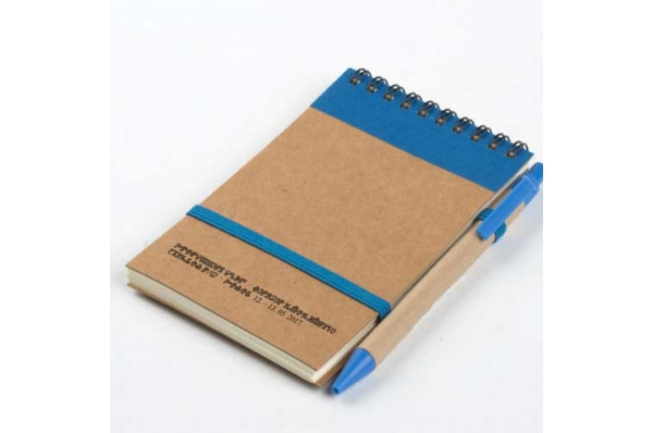 notes, bio razgradivi / Recycled paper notebook + pen