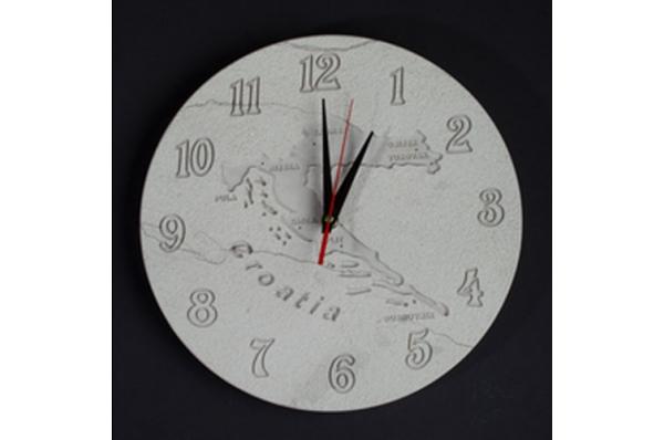 okrugli sat od bračkog kamena /Round wall clock, Brac stone