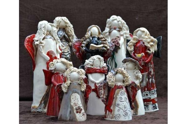 keramički anđeli 10cm / 13cm  /25 cm / colored angels 10cm / 13cm  /25 cm