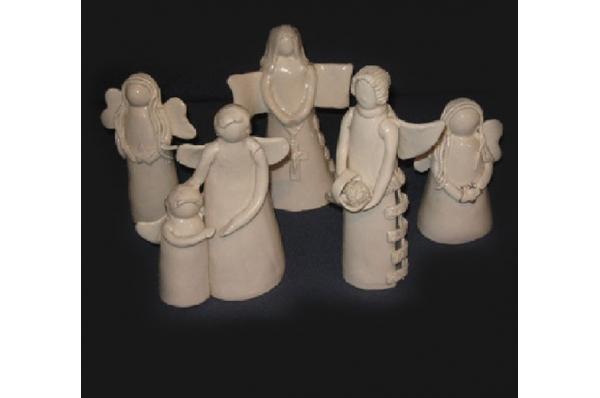 keramički anđeli, bijeli /Figurines, white angels 10cm /13cm / 25 cm