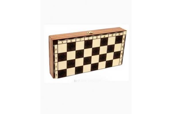 drveni šah, rezbareni / carved