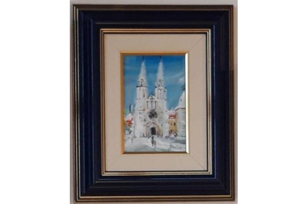 uokvireno ulje na platnu 10x15cm /Miniature oil on canvas 10x15cm