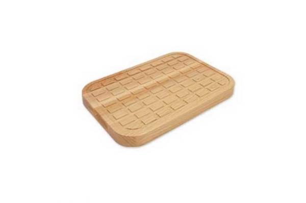 rebrasti podložak 32x24,2,6/28x20x2,6cm / Wooden Cutting Board- ribbed wood