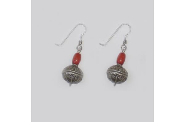 rinčice split, s koraljom / Renaissance coral earrings, replica