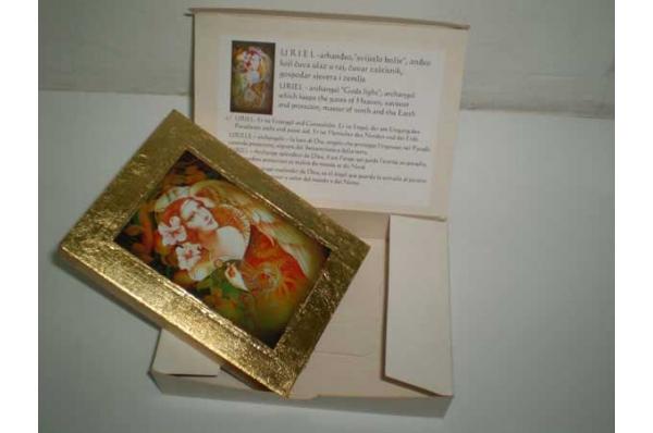 slika, replika anđeli na drvu /<Wall pictures, angels on a wooden background