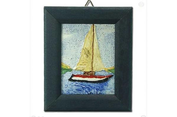 zidna slika, jedrilica / wall picture, sailboat