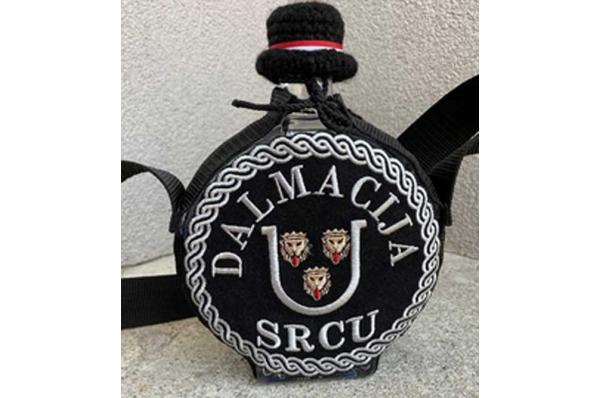 staklena čuturica-Dalmacija, zlatovez/ Glass čuturica -Dalmatia, gold embroidery