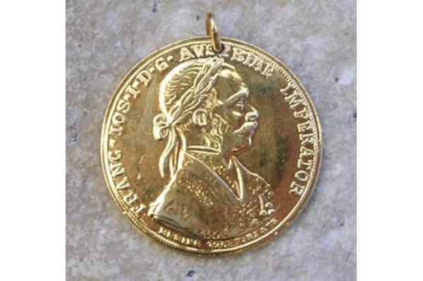 replika starpg au novčića,pozlaćen /Old Coins, replica gilded