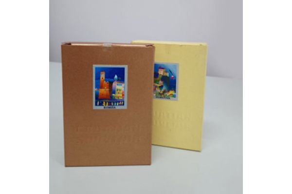 oslikane drvene škure, kutija