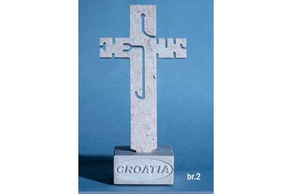 stolni križ, brački kamen /Table cross (Jesus)