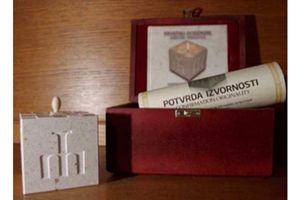 hrvatski svijećnjak, u kutiji /Croatian candlestick
