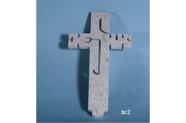 zidni križ, brački kamen (Jesus) / Wall Cross-Jesus