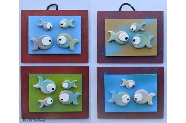 slika, keramin ribice / picture, ceramine fish