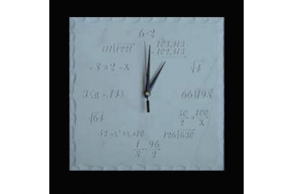 četvrtasti sat, matematičke formule / Wall Clock with mathemathics formula