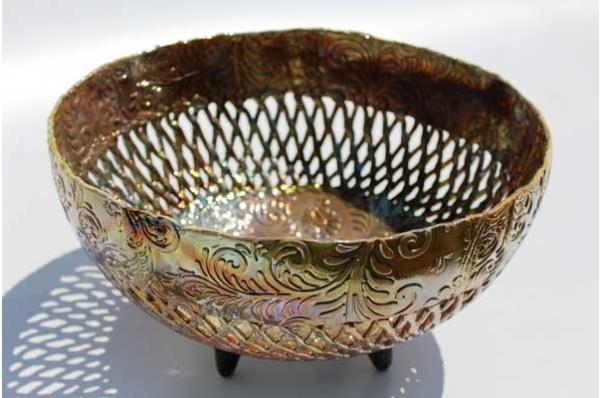 karamička mrežasta zdjela,unikat / Ceramic Bowls, unique