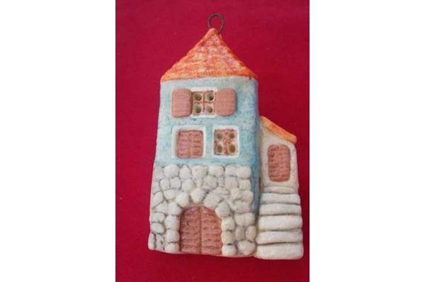 dalmatinska kućica, reljef od tijesta /Decorative dough relief - portal od Dalmatien houses