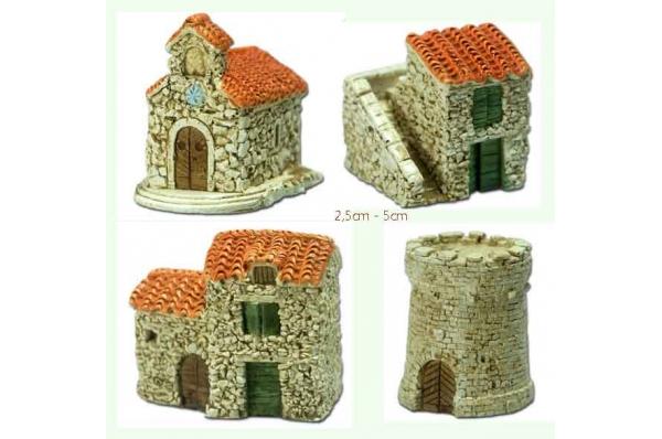 kućice minijature 2,5 do 5cm /Stone houses, miniature up to 5cm