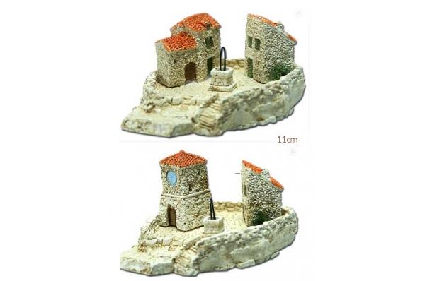 kucice s podestom minijature 12cm/Stone houses, miniature 12cmcm