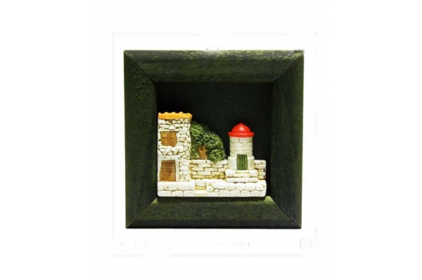 magnet,reljef građevine /  framde fridge magnets-a hous relief