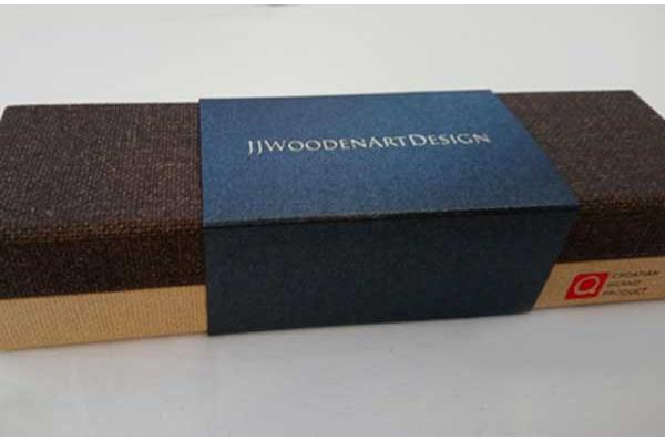 nalivpero od maslinova drva-kutija / Olive wood fountain pen -box
